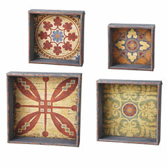 Medallion Shadow Box- Set of 4