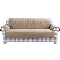 SURE FIT® Cotton Duck Loveseat Pet Furniture Cover