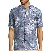 The Havanera Co.® Short-Sleeve Tropical-Print Woven Shirt