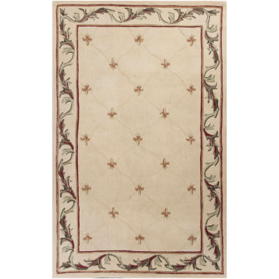 Fleur De Lis Hand Carved Wool Rug Collection