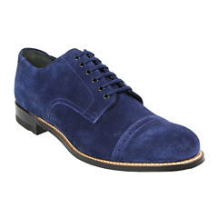 Stacy Adams® Madison Cap-Toe Mens Leather and Suede Oxfords