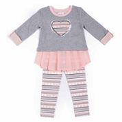 Little Lass Girls Legging Set-Toddler