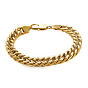 Mens Gold-Tone Ion-Plated Stainless Steel 8¾
