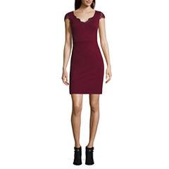 Decree® Lace Inset Dress - Juniors