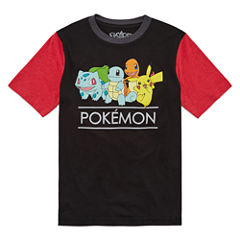 Short Sleeve Pokemon T-Shirt-Big Kid Boys