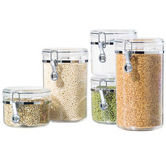OGGI™ 5-pc. Acrylic Canister Set