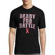 XERSION SHORT-SLEEVE READY FOR BATTLE BREAST CANCER TEE