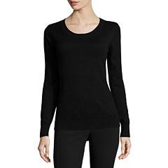 Worthington® Essential Long-Sleeve Crewneck Pullover Sweater - Tall