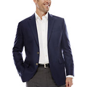 Stafford® Executive Blue Hopsack Blazer - Classic