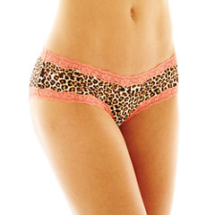 Flirtitude® Lace-Trim Hipster Panties