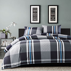 INK+IVY Nathan Plaid Duvet Cover Set