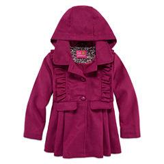 Pink Platinum Girls Midweight Peacoat-Preschool