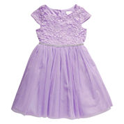 Young Land Short Sleeve Party Dress - Preschool