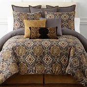 Royal Velvet® Montague 4-pc. Comforter Set & Accessories