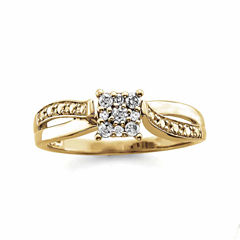 tw round diamond 10k gold engagement ring - Jcpenney Jewelry Wedding Rings