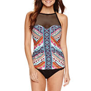 a.n.a Tribal Beat High Neck Mesh Tankini or a.n.a Hipster Bottoms