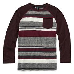Ocean Current Long Sleeve Henley Shirt - Big Kid Boys