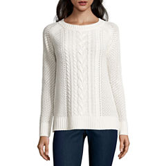 St. John's Bay Crew Neck Pullover Sweater