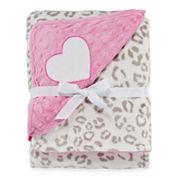 Okie Dokie® Plush Animal-Print Blanket