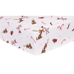Trend Lab Dr Seuss Flannel  Crib Sheet
