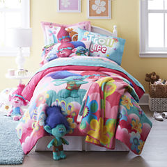 Trolls Reversible Twin/Full Comforter + BONUS Sham Collection