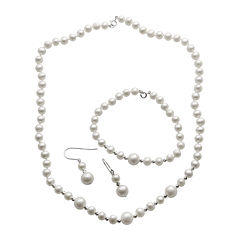 Cultured Freshwater Pearl 3-pc. Boxed Jewelry Set