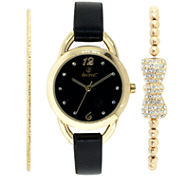 Decree Womens Gold Tone Watch Boxed Set-Dcr270ls