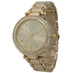 Olivia Pratt Womens Gold Tone Bracelet Watch-14202gold
