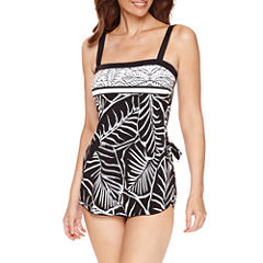 Azul by Maxine of Hollywood Pattern One Piece Swimsuit