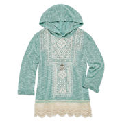Beautees Girls Hoodie-Big Kid