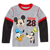 Okie Dokie Mickey Long-Sleeve Team 28 T-Shirt - Preschool 4-7