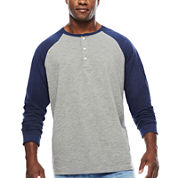 The Foundry Big & Tall Supply Co.™ Long-Sleeve Colorblock Raglan Tee