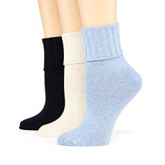 Mixit™ 3-pk. Turn-Cuff Socks
