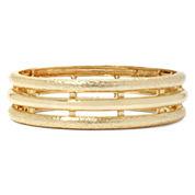 Monet® Gold-Tone Textured Stretch Bracelet
