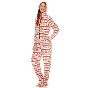 Long Sleeve Footed Pajamas-Juniors