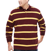 The Foundry Big & Tall Supply Co.™ Long-Sleeve Suede Polo