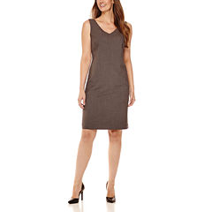 Worthington® Sleeveless V-Neck Sheath Dress