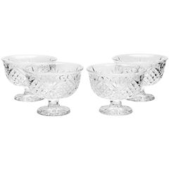 Dublin by Godinger Set of 4 Glass Dessert Bowls