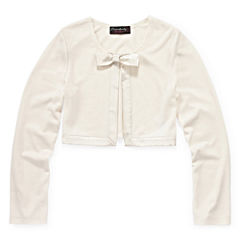 Disorderly Kids® Satin-Trim Cardigan - Girls 7-16 and Plus