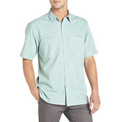 Arrow® Short-Sleeve Crosshatch Woven Shirt