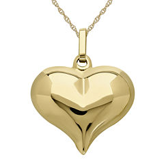 Infinite Gold™ 14K Yellow Gold Puff Heart Pendant Necklace
