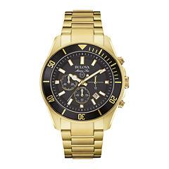 Bulova® Marine Star Mens Gold-Tone Stainless Steel Watch 98B250