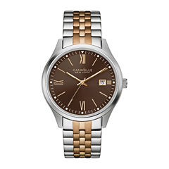 Caravelle New York® Mens Two-Tone Stainless Steel Watch 45B139
