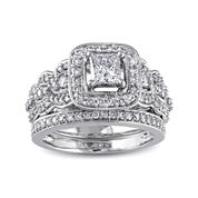 1¼ CT. T.W. Diamond 14K White Gold Bridal Ring Set