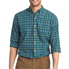 IZOD Long-Sleeve Plaid Button Front Shirt