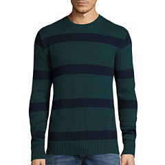 St. John's Bay® Long-Sleeve Striped Sweater