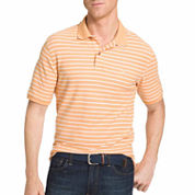 IZOD Short Sleeve Stripe Cotton Polo Shirt