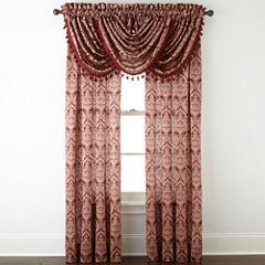 Royal Velvet® Hilton Damask Rod-Pocket Window Treatments