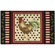 Nourison® Rooster Hand-Hooked Rectangular Rug