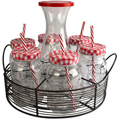 Artland Gingham 21-pc. Beverageware Mason Jar Set